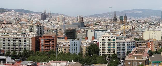 Vue panoramique de barcelone