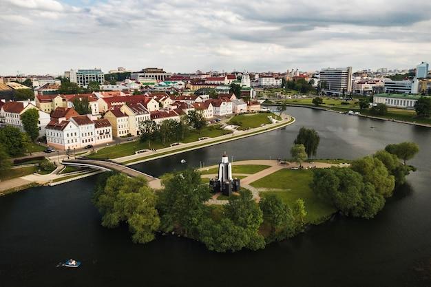 Vue panoramique sur le centre historique de minsk