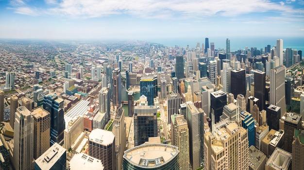 Vue panoramique du centre-ville de chicago, illinois usa