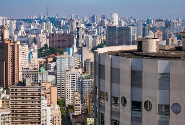 Vue panoramique du centre-ville de sao paulo.