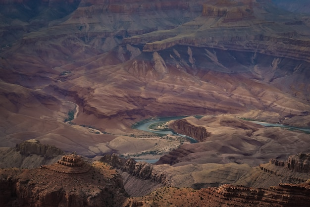 Vue panoramique du grand canyon