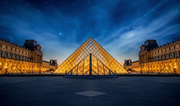 Vue panoramique du musée du louvre