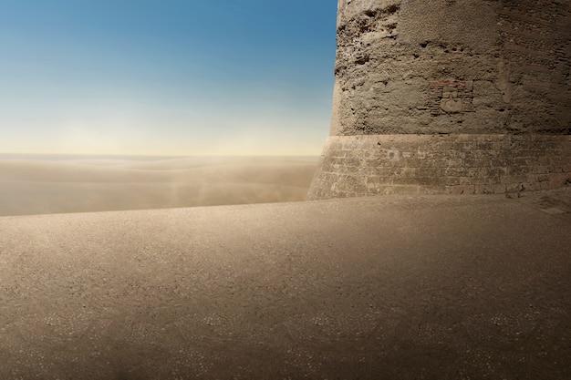 Vue panoramique des dunes de sable