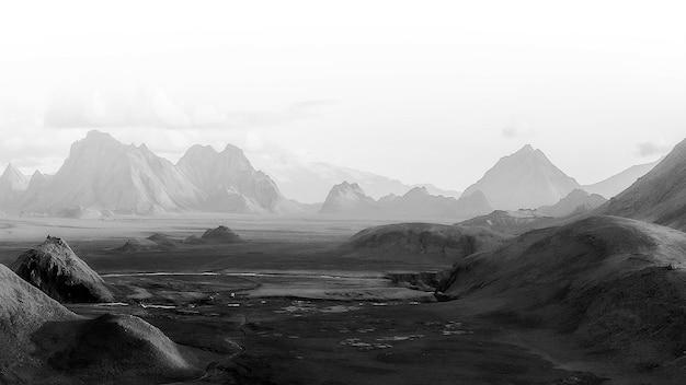 Vue panoramique sur les hautes terres naturelles