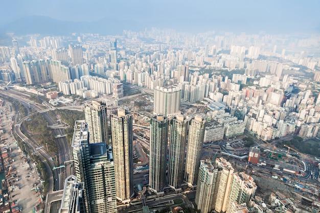 Vue panoramique sur hong kong