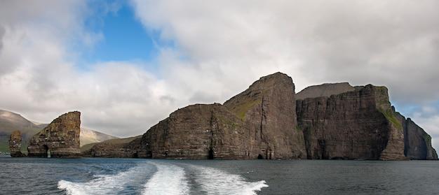 Vue panoramique des îles féroé