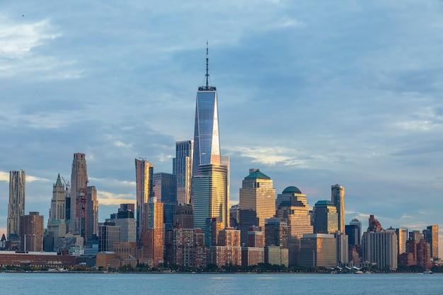 Vue panoramique de midtown manhattan depuis hoboken jersey city new jersey