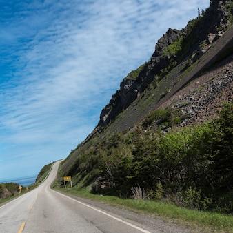 Vue panoramique d'une route côtière, sentier cabot, parc national des hautes-terres-du-cap-breton, île du cap-breton,