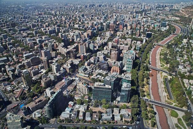 Vue panoramique de santiago de torre costanera, chili