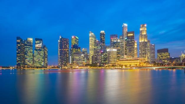 Vue panoramique des toits de la ville de singapour