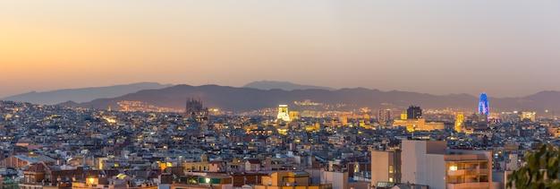 Vue panoramique de la ville de barcelone