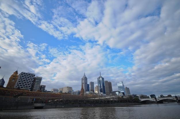 Vue panoramique de la ville de melbourne en australie