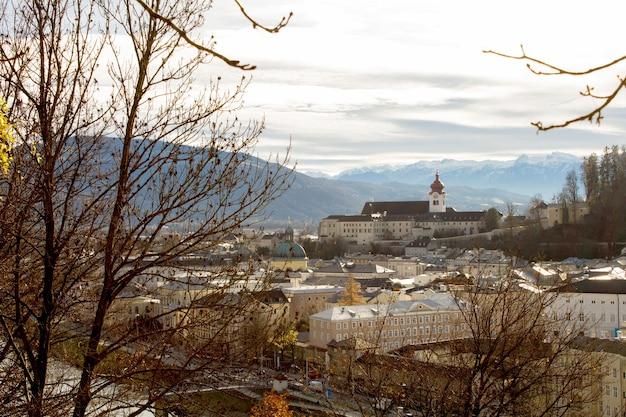 Vue panoramique sur la ville.salzbourg.autriche.