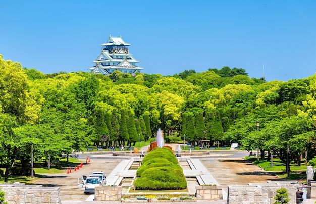 Vue sur le parc du château d'osaka à osaka, japon