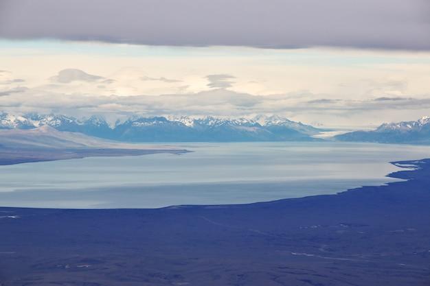 Vue de la patagonie depuis l'avion