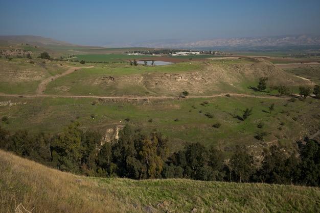 Vue des paysages du paysage, parc national bet she'an, district de haïfa, israël