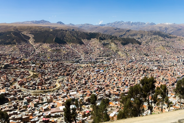 Vue de la paz d'el alto, en bolivie