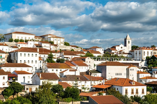 Vue de penela avec son château et son église. le portugal
