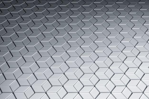 Vue en perspective de la surface avec motif géométrique hexagonal. formes hexagonales faites de losanges.