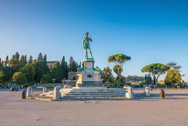 Vue de piazzale michelangelo à florence, italie