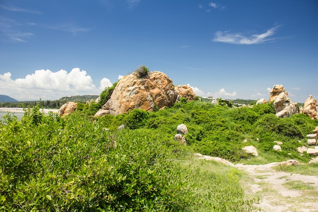 Vue pittoresque de ke ga, province de binh thuan, vietnam.