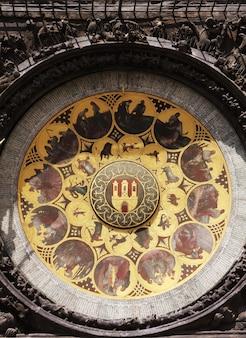 Vue sur la place et l'horloge astronomique de prague, république tchèque