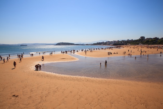 Vue de la plage de santander