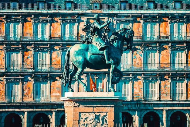 Vue de la plaza mayor, madrid, espagne