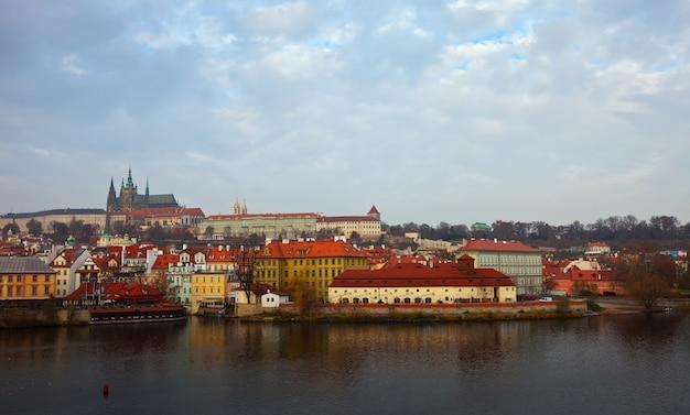 Vue de prague. république tchèque