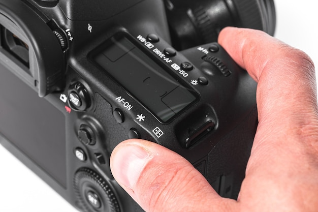 Vue rapprochée de l'appareil photo numérique