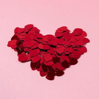 Vue rapprochée de la belle du concept de la saint-valentin