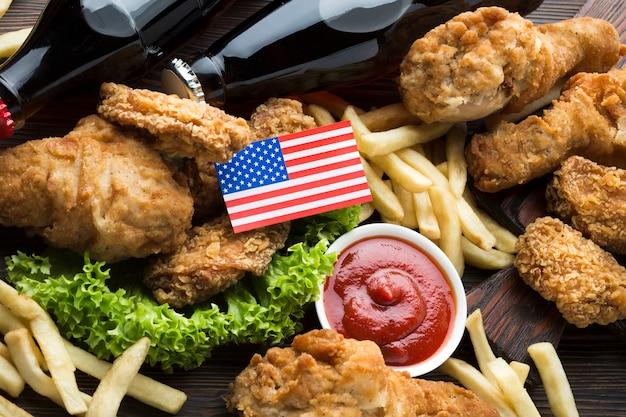 Vue rapprochée de la cuisine américaine