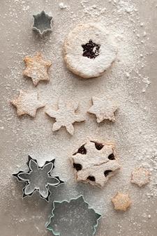 Vue rapprochée de délicieux cookies