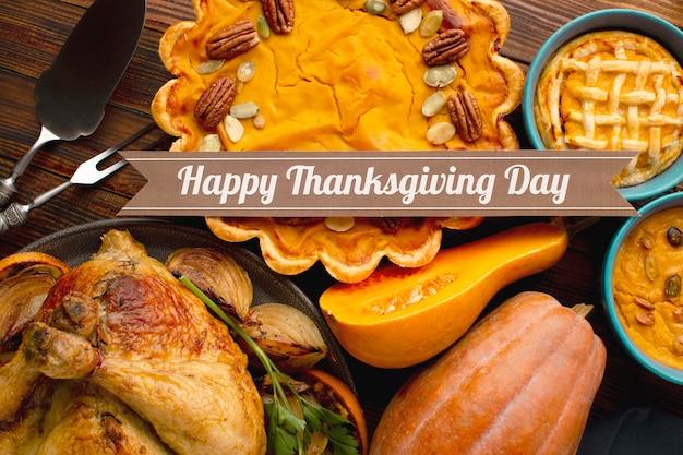 Vue rapprochée du beau concept de thanksgiving