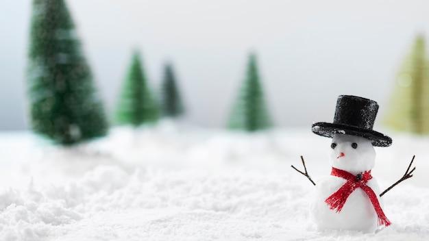 Vue rapprochée du concept de bonhomme de neige