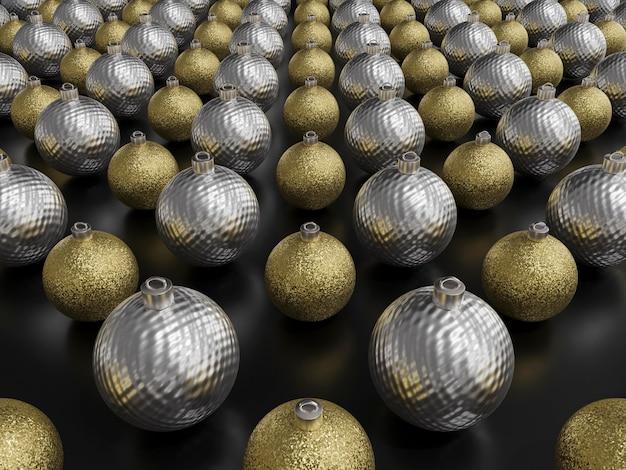 Vue rapprochée du concept de boules de noël