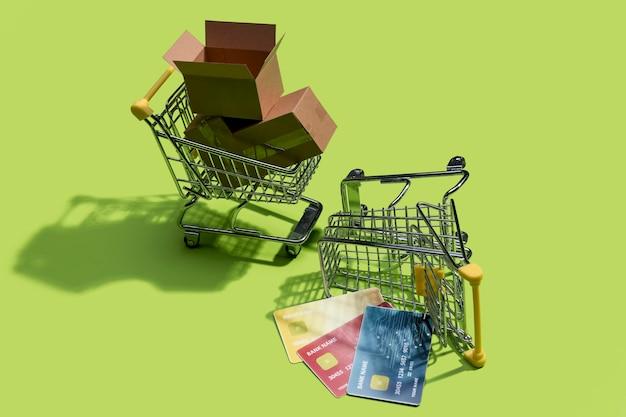 Vue rapprochée du concept de magasinage en ligne
