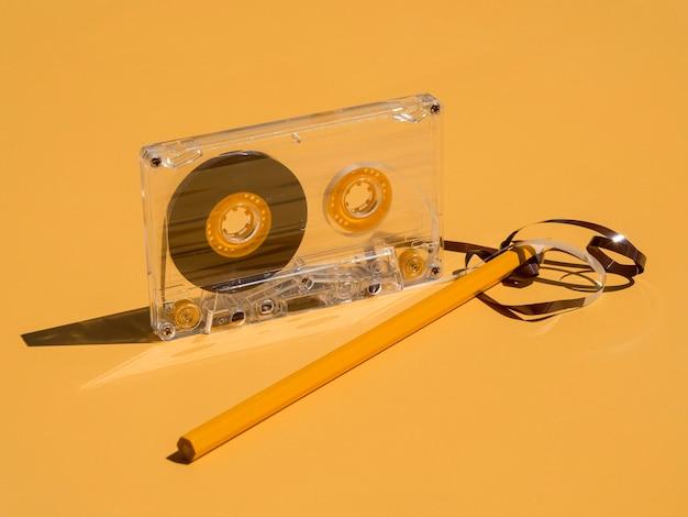 Vue rapprochée du concept de musique casette
