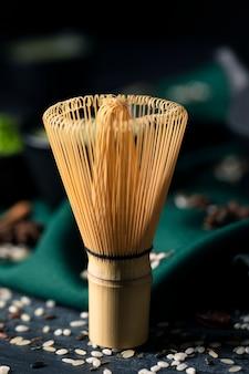 Vue rapprochée du fouet asiatique traditionnel