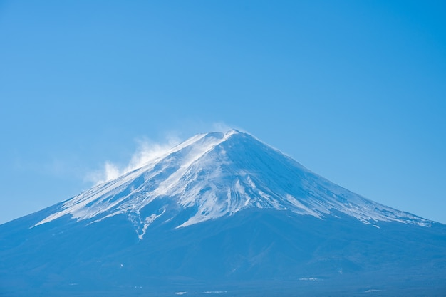Vue rapprochée du mont fuji à yamanachi, japon.
