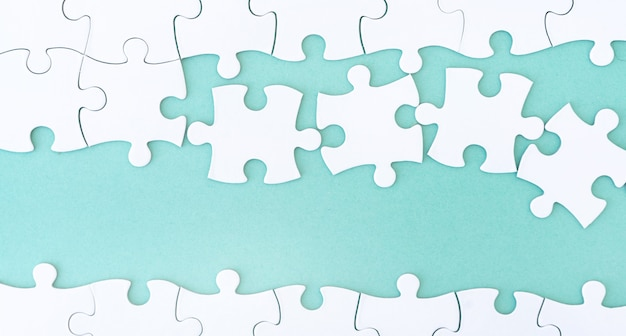 Vue rapprochée du puzzle de la maquette