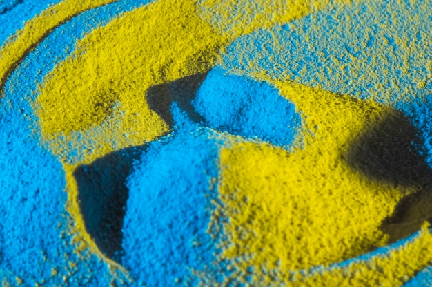 Vue rapprochée des formes de sable