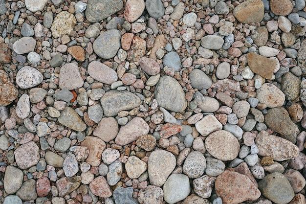 Vue rapprochée des rochers et des cailloux