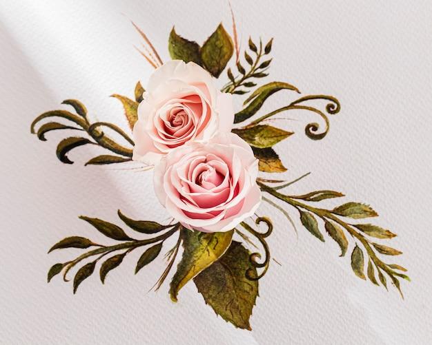 Vue rapprochée de la saint-valentin; concept de jour de s avec des roses