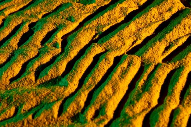 Vue rectangulaire de formes de sable rectangulaires