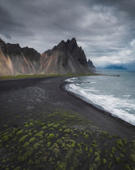 Vue sur la rive sud de l'islande