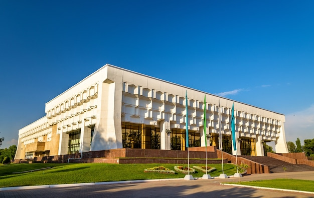 Vue de la salle de concert turkiston à tachkent en ouzbékistan