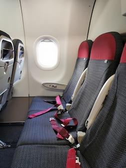 Vue des sièges passagers de l'avion.