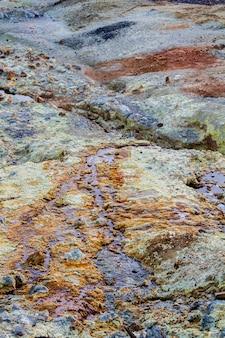 Vue d'un site d'extraction de fer situé à rio tinto, en espagne.