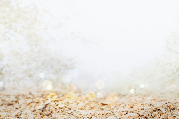 Vue sur le sol granuleuse tourné dans un style bokeh